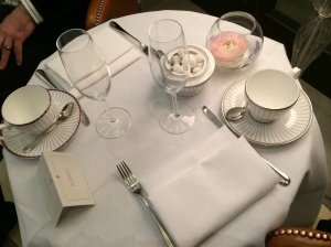 Table set for afternoon tea at the Corinthian
