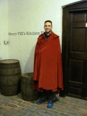 Trying on the velvet cloak--royalty suits us!