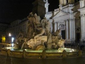 Fontana di quattro fiume in Piazza Navona